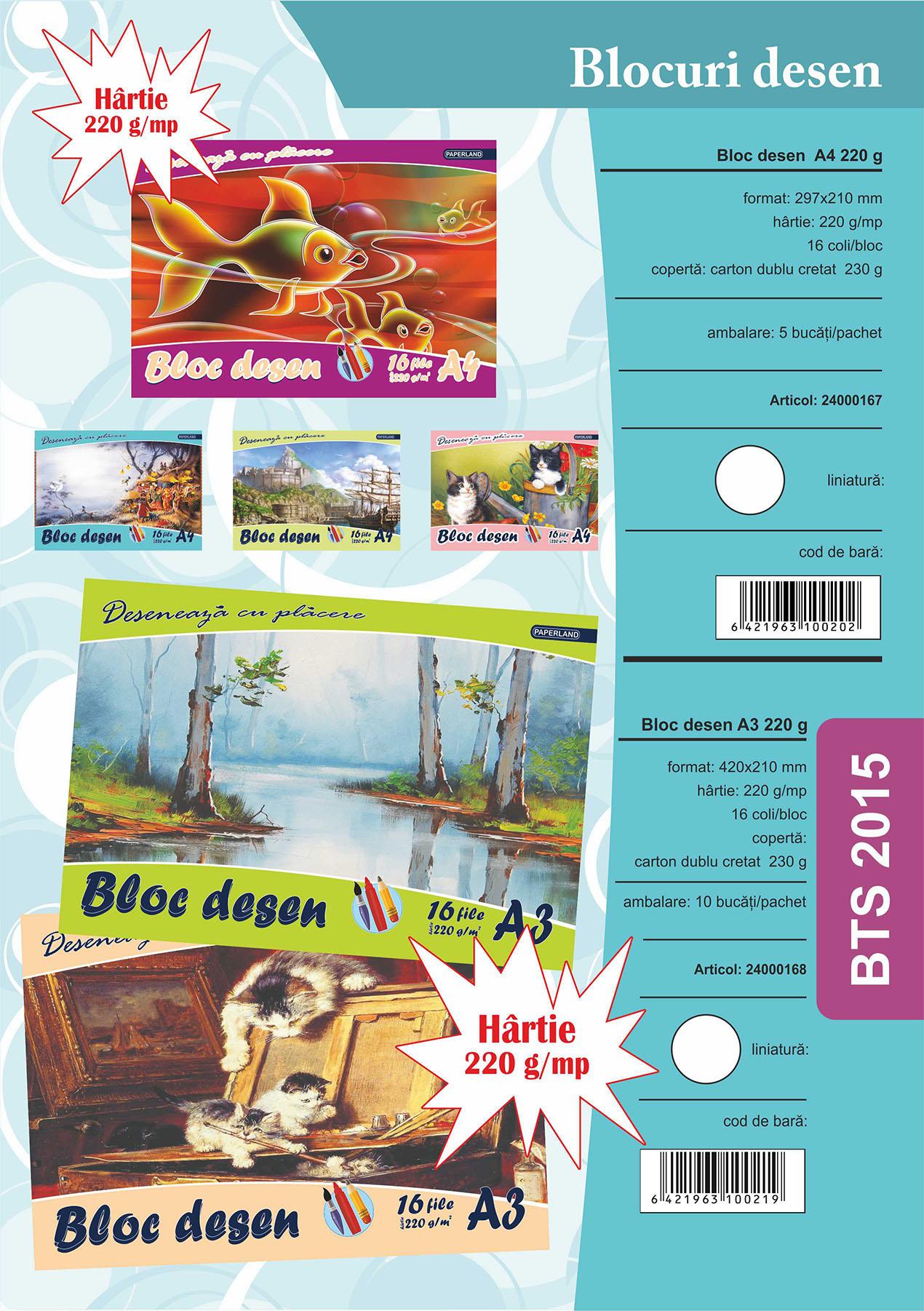 Blocuri A4 15 file 220 g Image