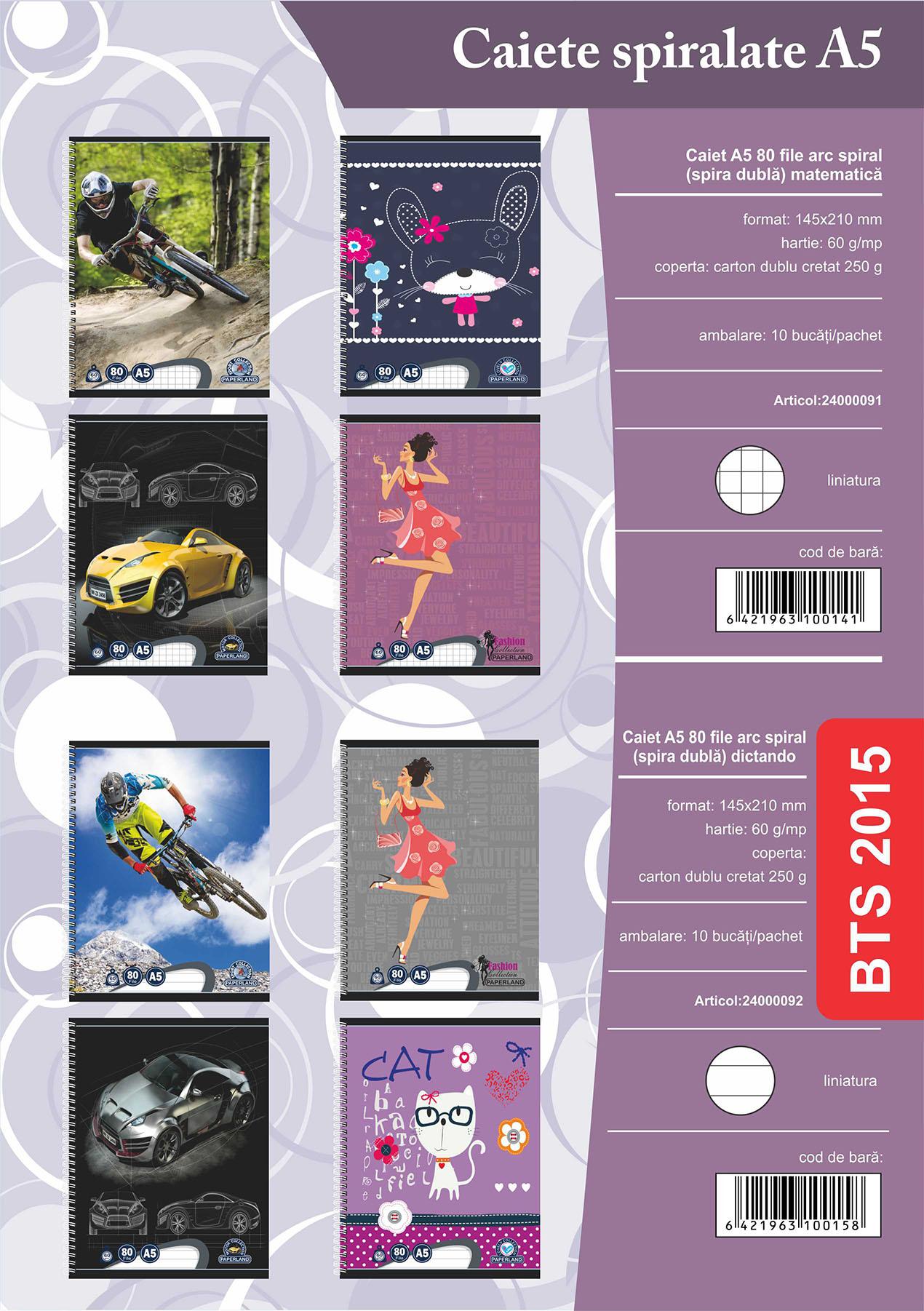 Caiet A5 80 file ARC (spira dubla) Image