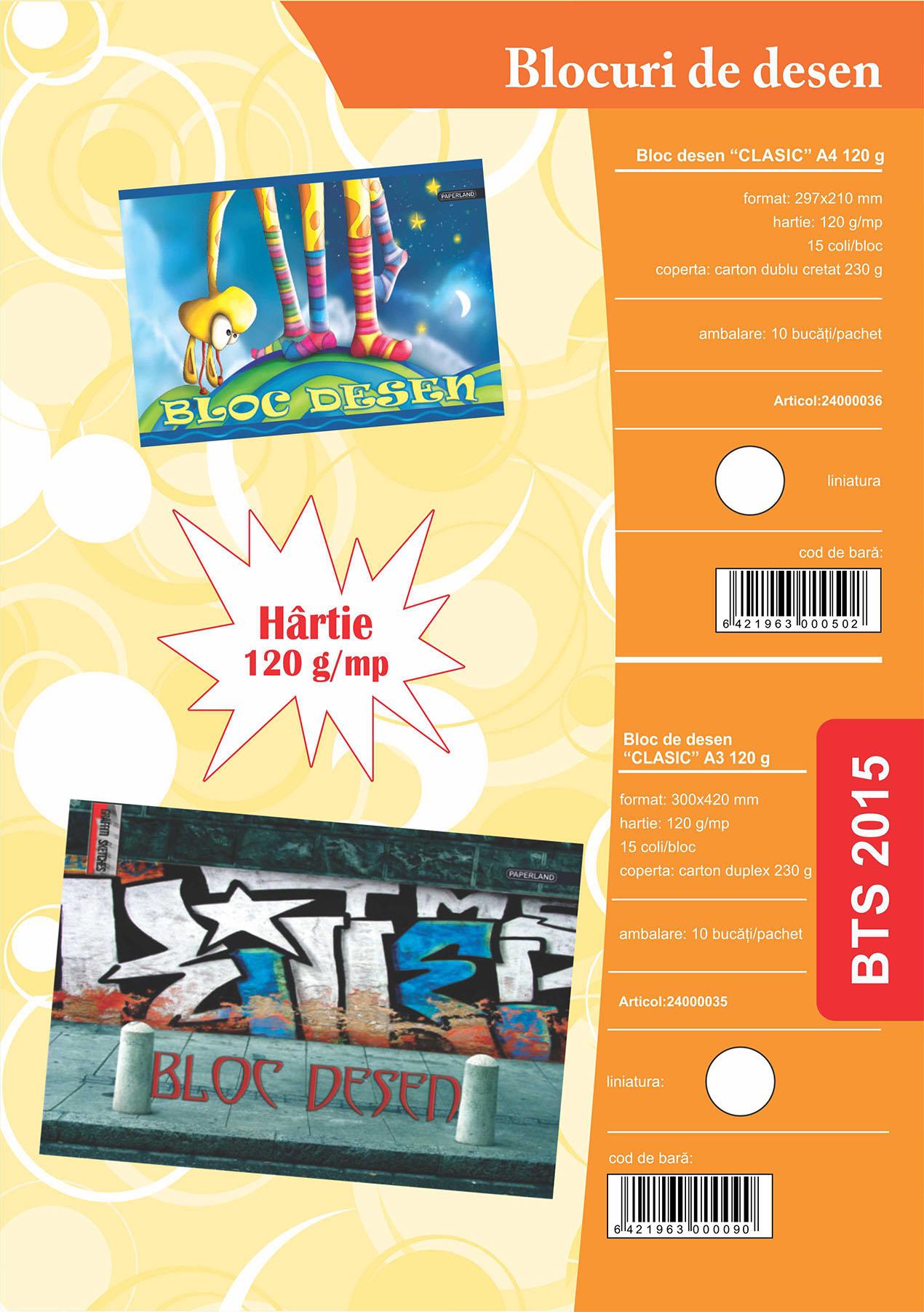 Blocuri de desen A4 15 file 120 g Image