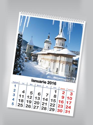 calendar de perete cu imagini -obiective turistice Image