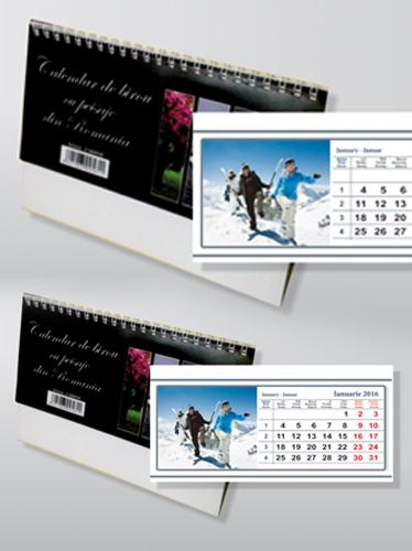 calendar de birou cu imagini -obiective turistice Image