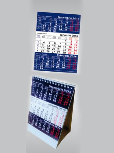 calendar triptic de birou Image